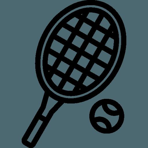 4 quadras de tênis (sendo 2 cobertas)